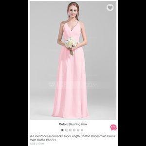 JJ House Chiffon Bridesmaids Dress-Blushing Pink